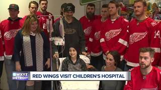 Red Wings visit to Children's Hospital hits home