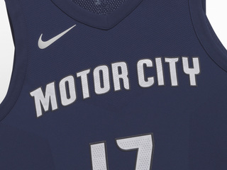Pistons unveil new Nike uniforms