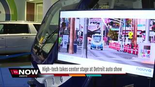 High tech takes center stage at auto show