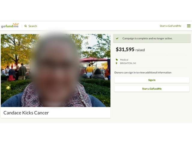 michigan pd claims gofundme breast cancer page a fake working on