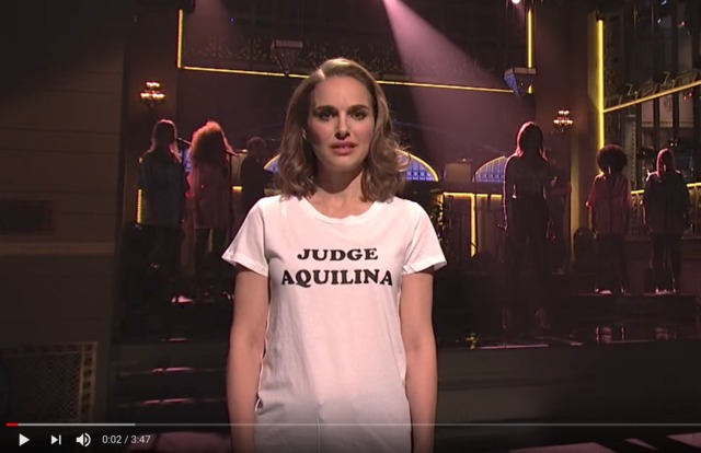 Natalie Portman is back with Time's Up rap