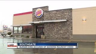 Family sees sex scene playing on Burger King TV