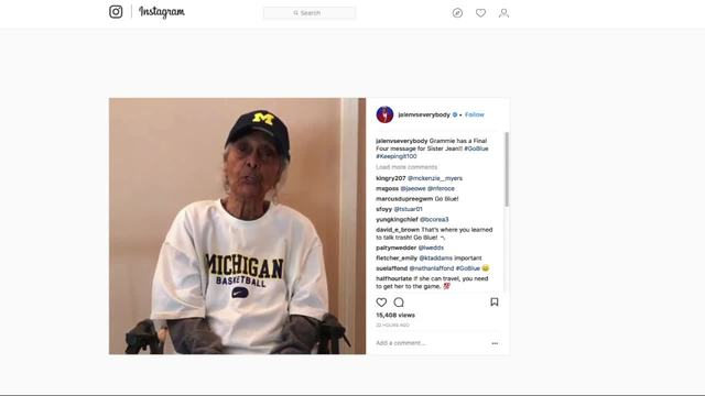 Jalen Rose-s 100-year-old grandma has a message for Sister Jean