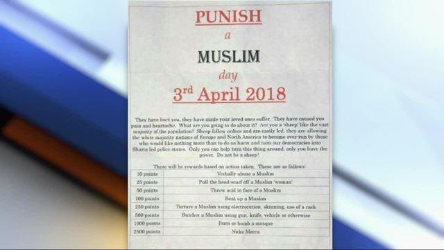 punish a muslim day fliers have arab american community on edge