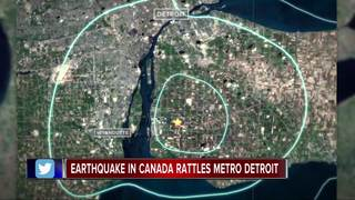 Earthquake is largest felt in Detroit since 2015