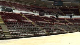 Photos: Crews remove seats at Joe Louis Arena