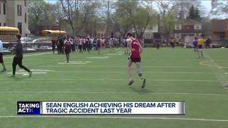Track star achieves dream after tragic accident
