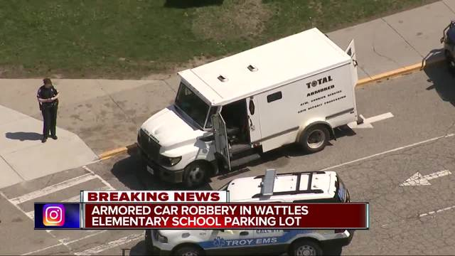 Armored Truck Robbed In School Parking Lot