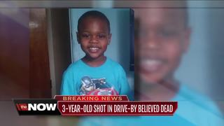 3-year-old hit in drive by dies at hospital
