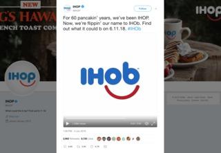 IHOP changing name to 'IHOb'