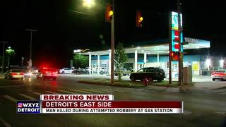 Man shot multiple times at Detroit gas station