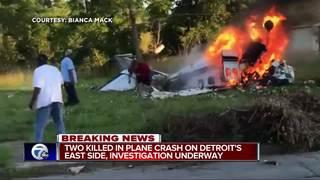 2 killed following plane crash in Detroit