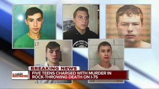 Teens in rock-throwing death take plea deals