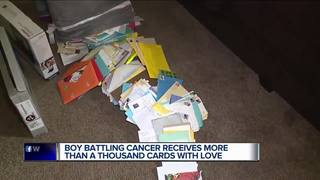Child with cancer receives more than 1,000 cards