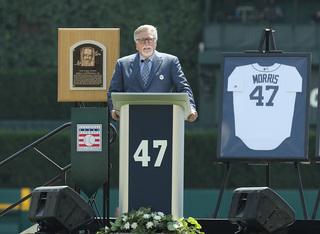 Tigers honor Hall of Famer Morris, retire No. 47