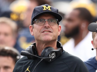 Harbaugh sees QB future for new infant grandson