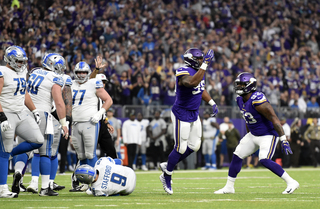 Stafford sacked 10 times; Lions lose to Vikings