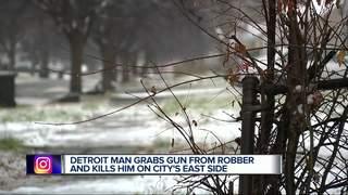 Detroit armed robber shot, killed with own gun