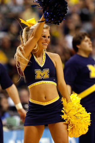 PHOTO GALLERY: NCAA cheerleaders - Michigan vs. Michigan State - Gallery