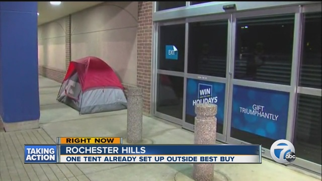 Black Friday c&ing has started & Black Friday camping has already begun in metro Detroit - WXYZ.com