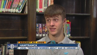 Local teenager worries about war in Ukraine