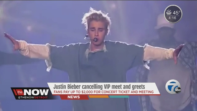 Justin bieber cancels all meet and greets at his concerts after justin bieber cancels vip meet and greets at concerts m4hsunfo