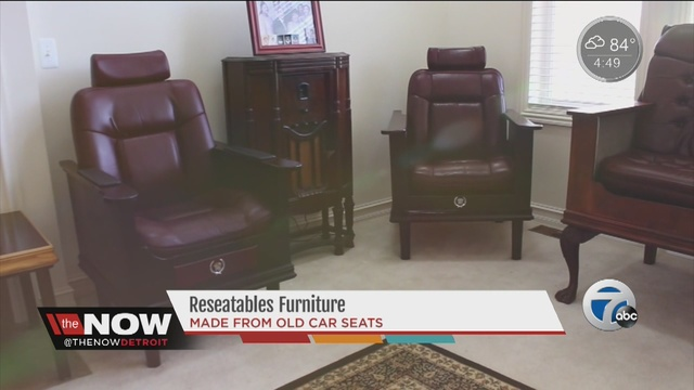 Reseatables furniture creates beautiful furniture from old for Furniture made from cars