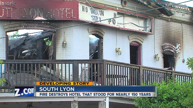Historic South Lyon Restaurant Destroyed By Fire Wxyz
