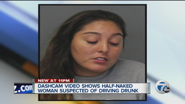 Dash-cam video released after woman caught drunk driving half naked in Troy - WXYZ.com
