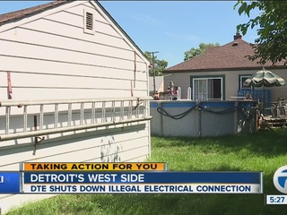DTE shuts down illegal electrical hookup
