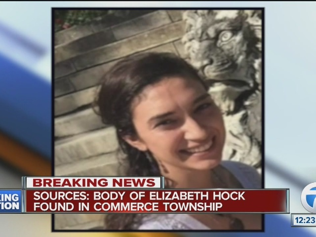 commerce township women Authorities in michigan discovered the body of a woman thursday who had been missing for more than a week a law enforcement source told wwj-tv that elizabeth hock's body was found in commerce township and foul play wasn't suspected authorities haven't released the cause of death the oakland.