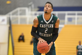 Thompson's double-double leads EMU to win