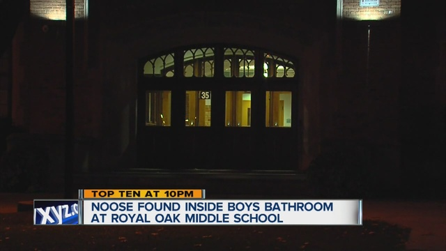 Noose Found Hanging From Boys Bathroom Stall At Royal Oak Middle - School bathroom stalls