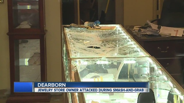 smash and grab at dearborn jewelry store leaves worker