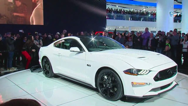 Ford Introduces Mustang At Detroit Auto Show And In Partnership - Car show detroit 2018