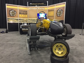 Oakland University students learn at auto show
