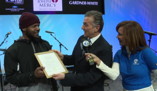Local man presented with Hope Scholarship