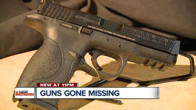 dozens of police-issued firearms lost or stolen in michigan since 2010
