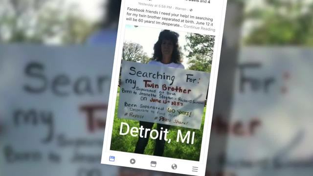 warren woman asks for help on facebook to find long lost twin
