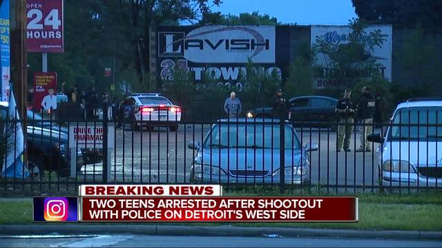 detroit police officers involved in shootout during attempted armed