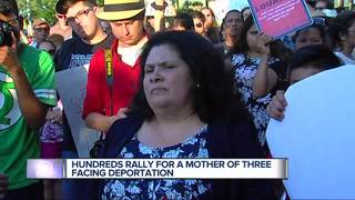 Massive protest held over woman's deportation