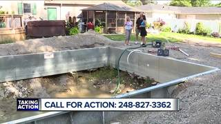 Couple wants pool contractor to finish the job