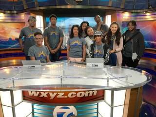 Detroit Central High students visit TV-7/20