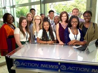 Free Press interns visit TV-7 downtown studio