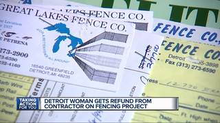 Elderly woman says contractor owes her money
