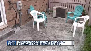 Elderly couple says contractor botched patio job