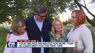 Siblings separated for 50 years reconnect online