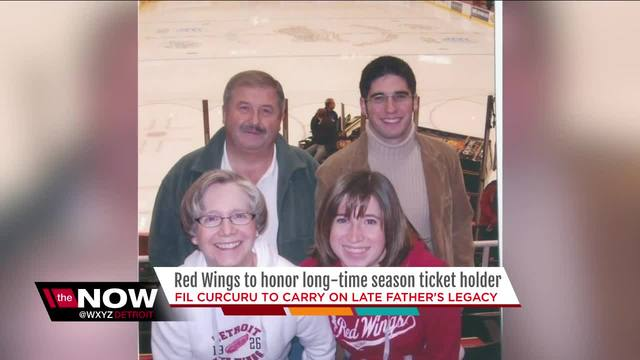 son of lifelong red wings season tix holder to honor father wxyz com
