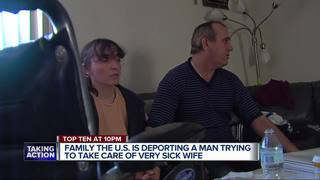Man facing deportation fears for wife's life