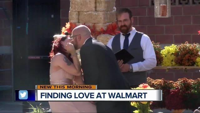 retail romance metro detroit couple marries inside walmart